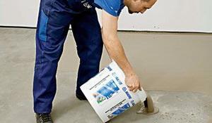 Etap IV - Poziomowanie podłogi wylewką