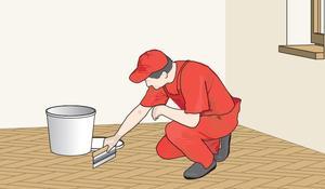 KROK II - Szpachlowanie drewnianej podłogi i kolejne szlifowanie