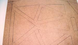 KROK I – Rozrysowanie wzoru na płycie